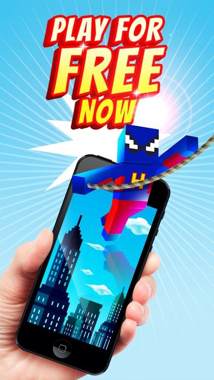 Superhero Swing - Pocket Edition Rope n Fly Game screenshot-3