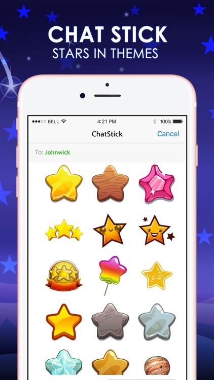 Stars Emoji Stickers Keyboard Sky Themes ChatStick