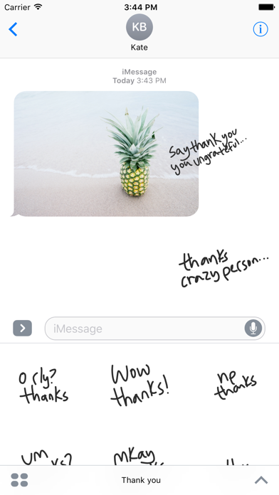 Thank you sticker - fun text stickers for iMessage