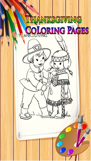 thanksgiving coloring book for kids on the app store