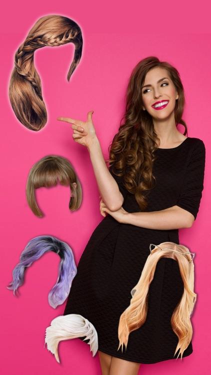 Hairstyles & haircuts Makeover photo editor -Pro screenshot-3