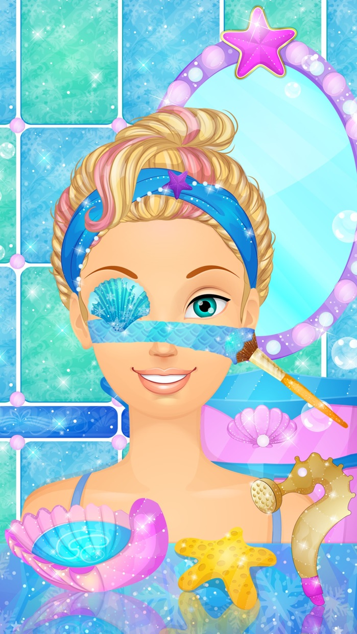 Ice Princess Mermaid: Girl Makeup & Dress Up Games Screenshot