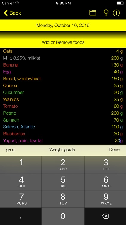 Carb Counter and Tracker for Healthy Food Diets screenshot-1