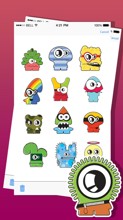 Cute Monsters Emojis and Stickers Pack