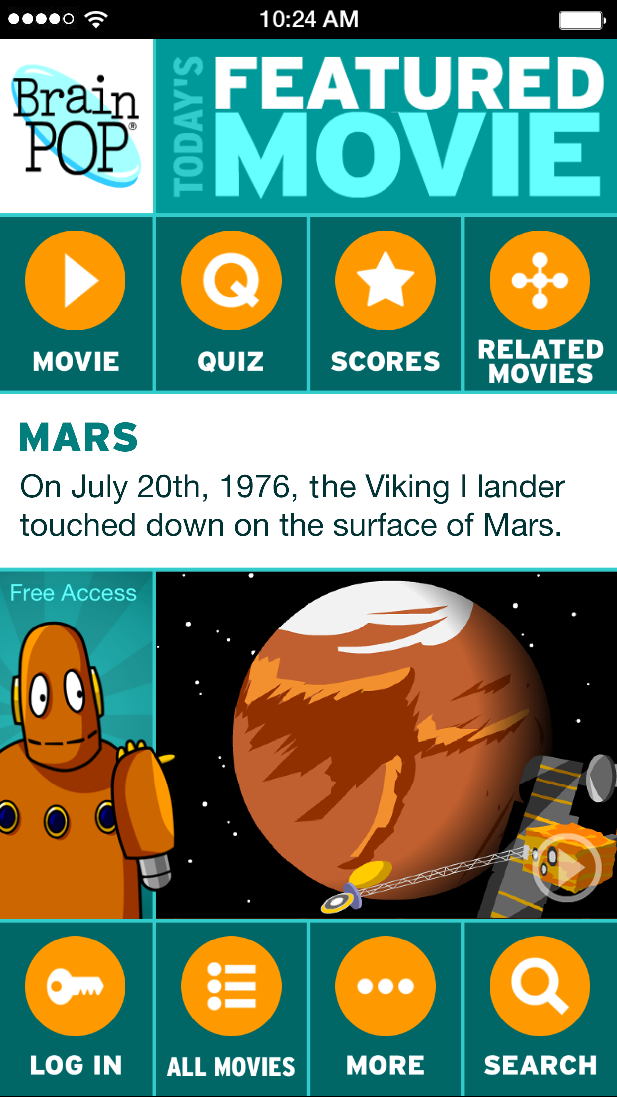 BrainPOP Featured Movie Screenshot