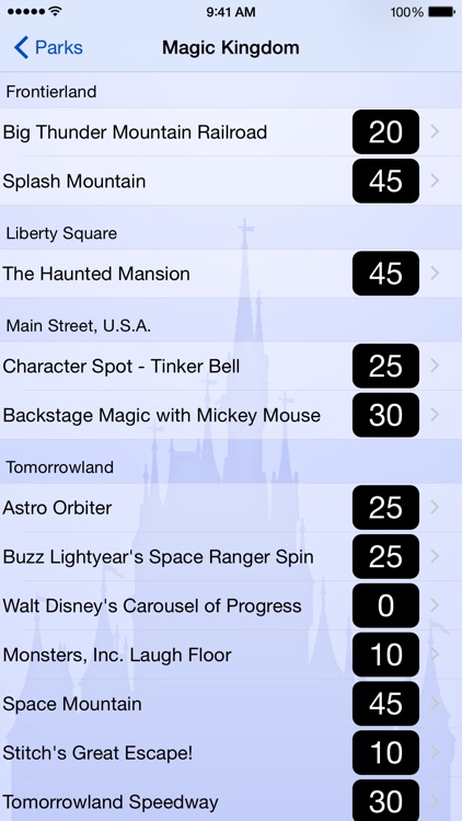 Wait Times for Disney World screenshot-0