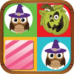 Happy Halloween Match Game for Kids