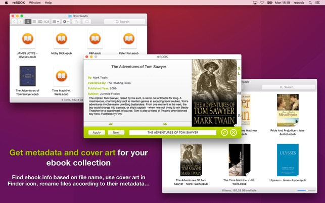 ‎reBOOK - Automatic tagging & covers for ePub files