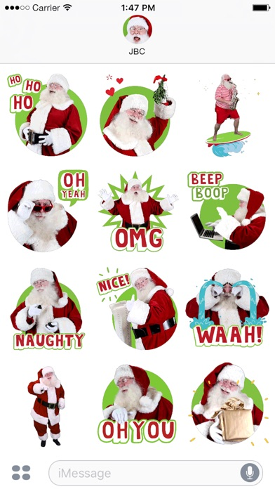 Just BeClaus - Animated Christmas Santa Stickers Screenshot