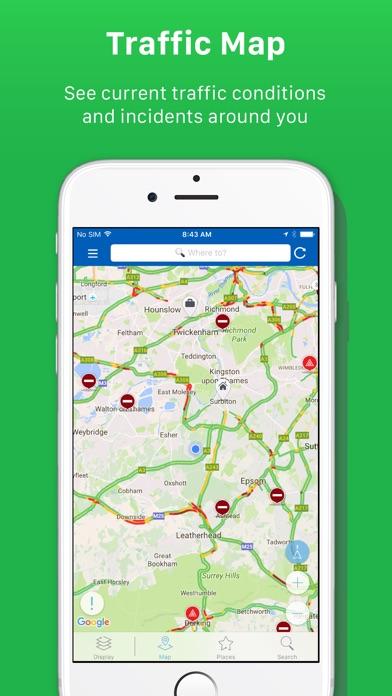 INRIX Traffic Screenshots