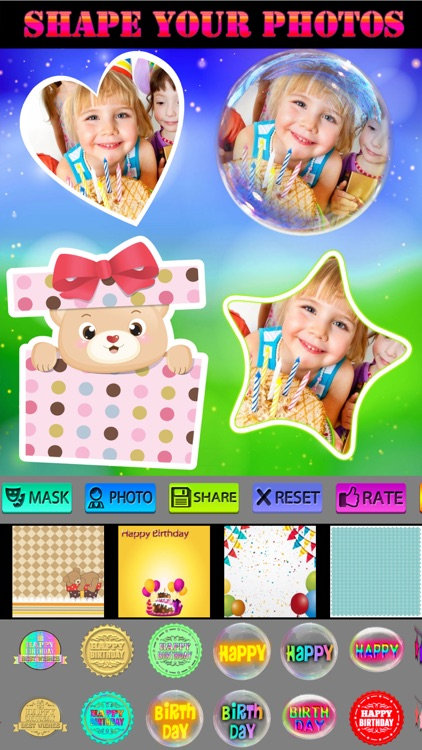 Happy Birthday Photo Frames + Stickers screenshot-2