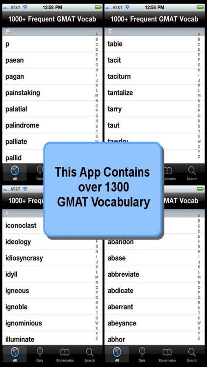 1000+ Frequent GMAT Vocabulary screenshot-3