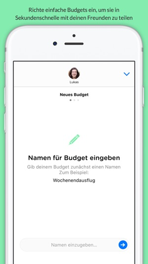 Pennies Mini -Teile Budgets mit deinen Freunden Screenshot
