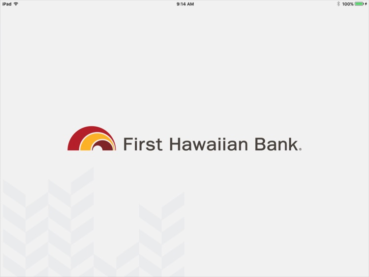 First Hawaiian Bank Mobile for iPad