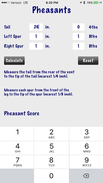 Pheasant Score