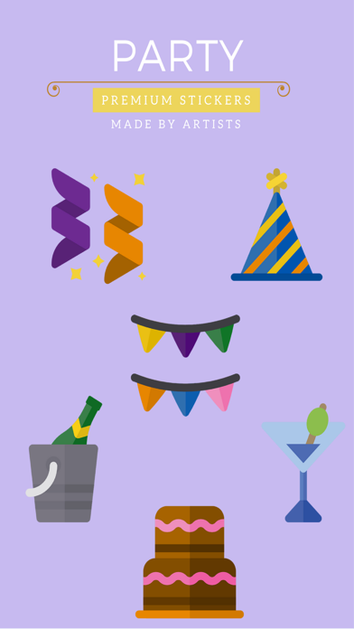 Party Stickers - Celebrate and have fun