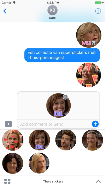 Thuis stickers