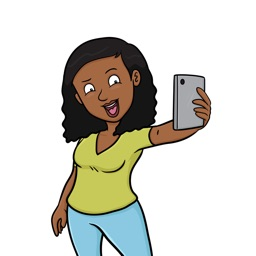 Monica Selfie Stickers - Black Girl Edition