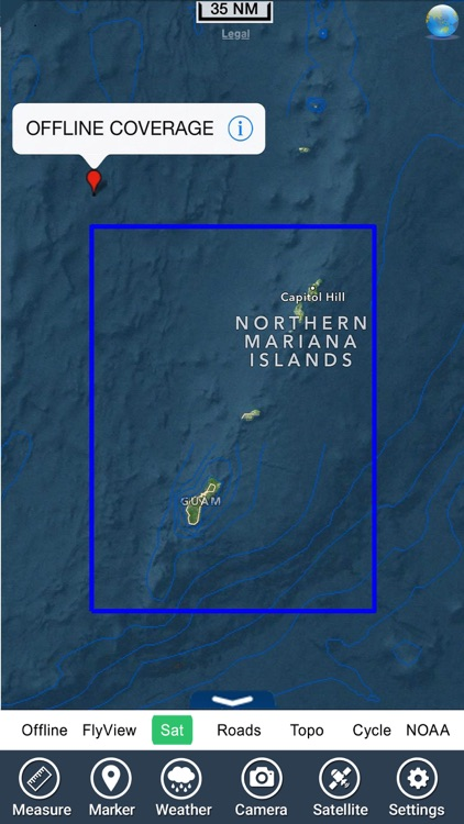 Marine : Guam Island - GPS Map Navigator screenshot-4