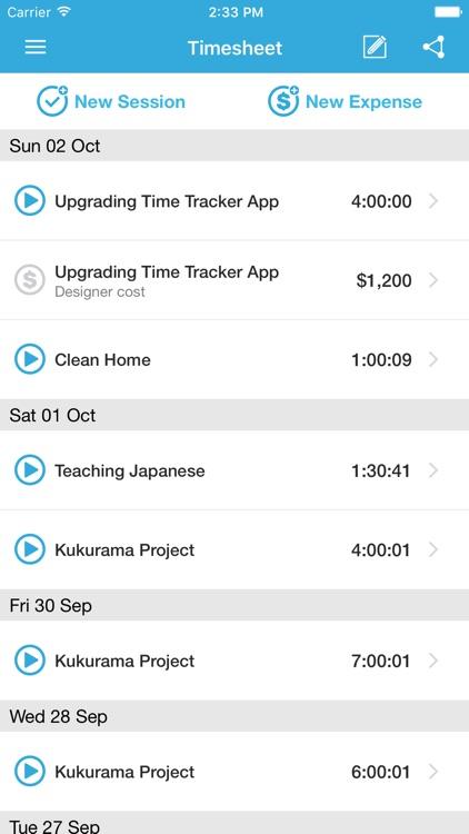 Time Tracker Free screenshot-3
