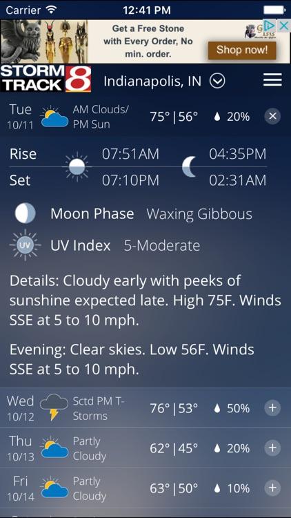WISH-TV Weather - Radar & Forecasts screenshot-3