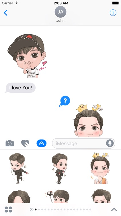 Adam - Handsome Boy Stickers Pack for iMessage