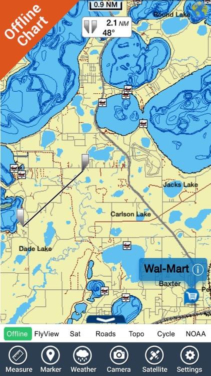 Guntersville lake map GPS fishing charts offline