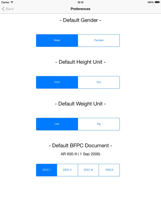 Army Body Fat Percentage Calculator for iPad screenshot-3