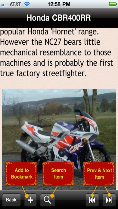 Screenshot for Motorcycle Encyclopedia in United States App Store
