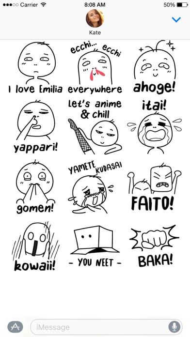 Otaku Lingo stickersScreenshot of 5