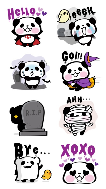 Pandaaa!!! Halloween Stickers screenshot-2