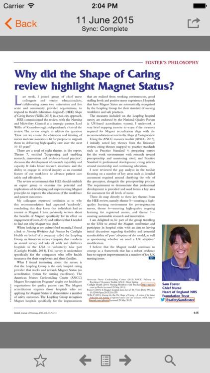 British Journal of Nursing screenshot-4