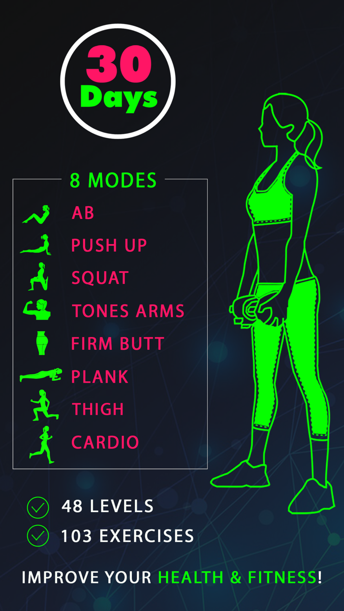 30 Day Fitness Challenges ~ Daily Workout Free Screenshot