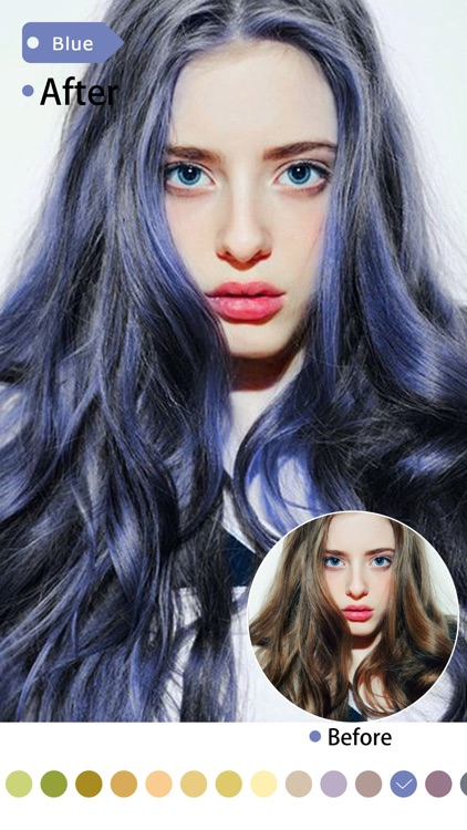 Beautify Plus-Hair Color Changer&Blemish Remover screenshot-4