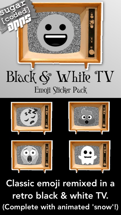 Black & White Emoji TV