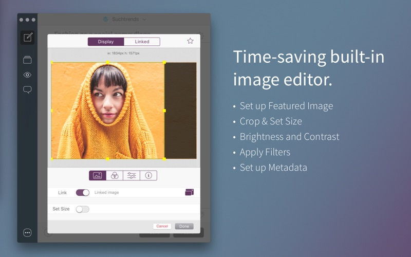 Blogo - Simple, powerful blog editor app Screenshot