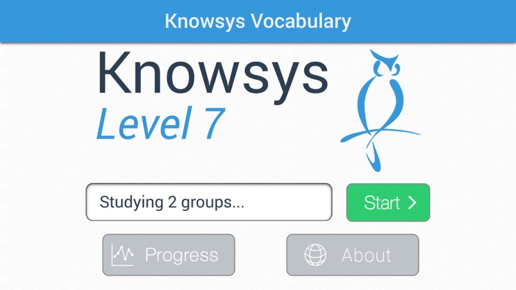 Knowsys Level 7 Vocabulary Flashcards