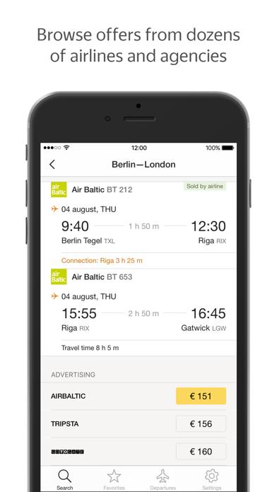 Yandex.Flights screenshot two