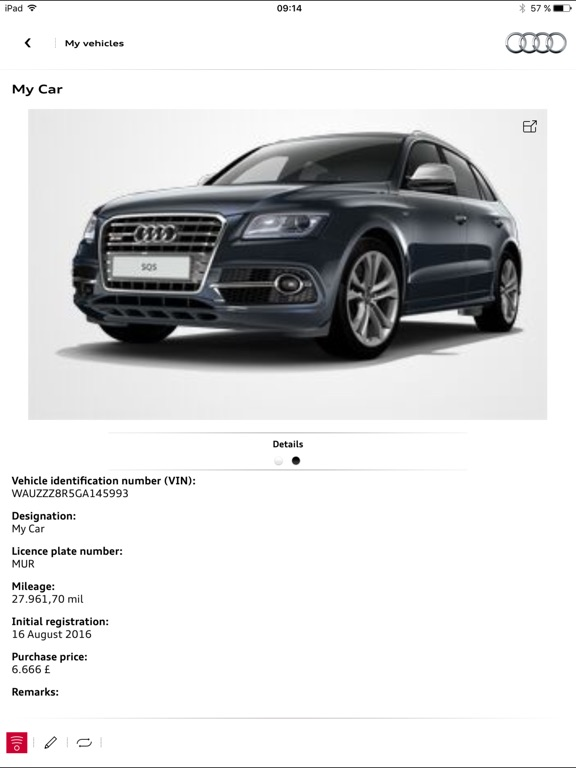 myAudi mobile Screenshot