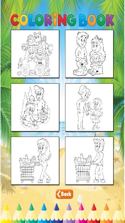 Family Coloring Book - Activities for Kids screenshot-4