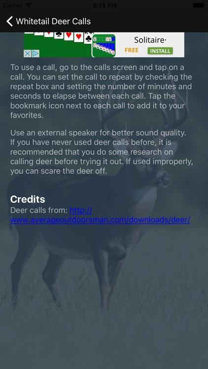Whitetail Deer Calls screenshot-3