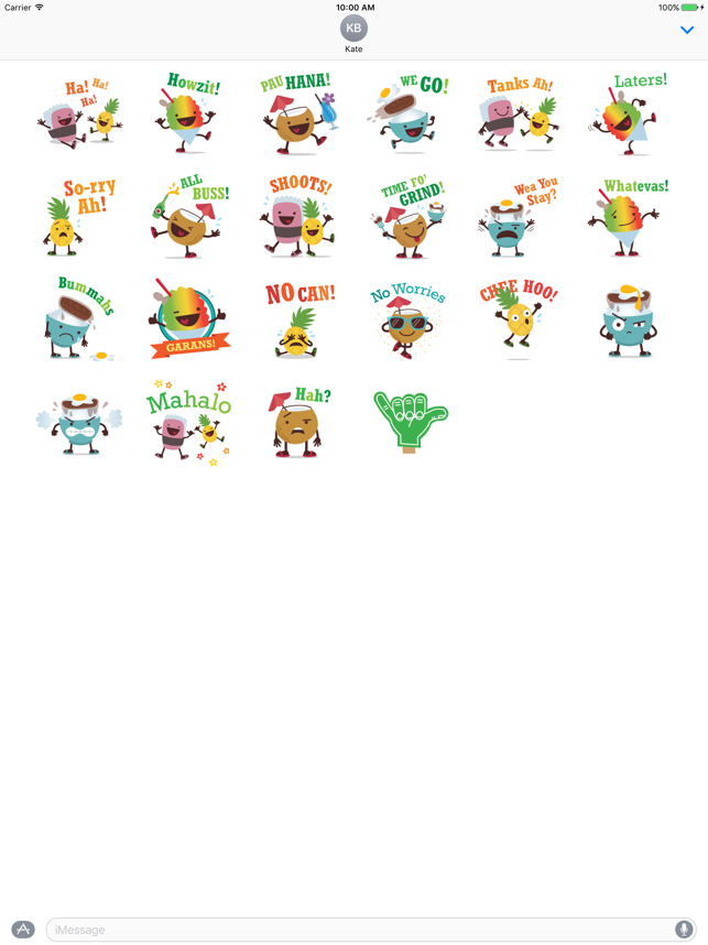 Alohamojis - Hawaii Stickers Screenshot