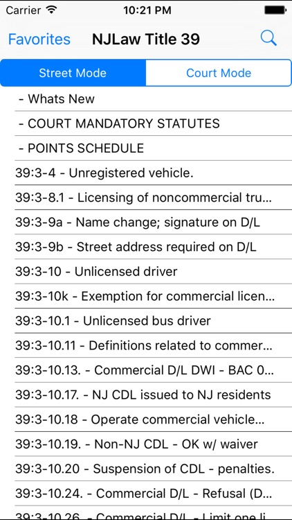NJLaw - Title 39 - Motor Vehicle screenshot-1