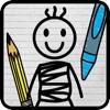 Stick-Man Doodle Danger Draw-ing Kid Jump-ing game