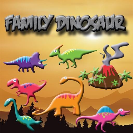 Kids Coloring Book Family Dinosaur iOS App