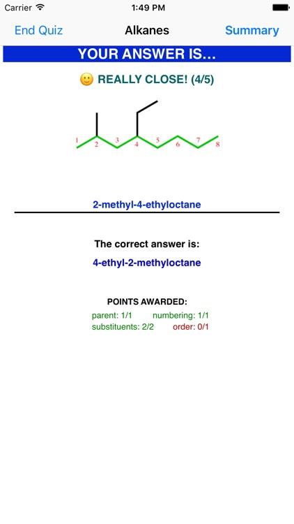Learn Organic Chemistry Nomenclature 1 screenshot-3