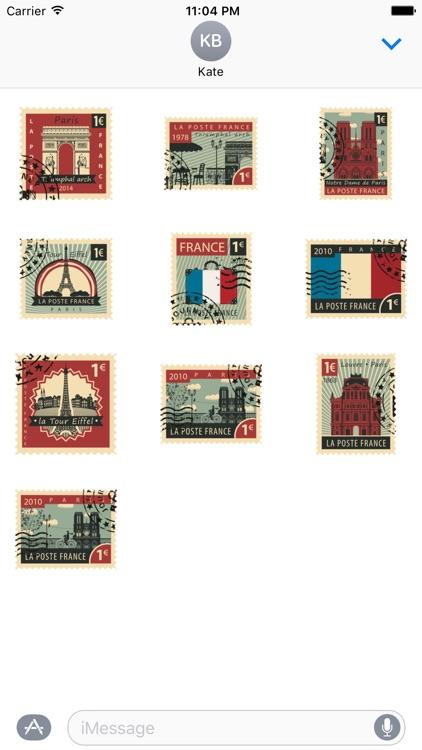 Stamps Paris Stickers screenshot-4