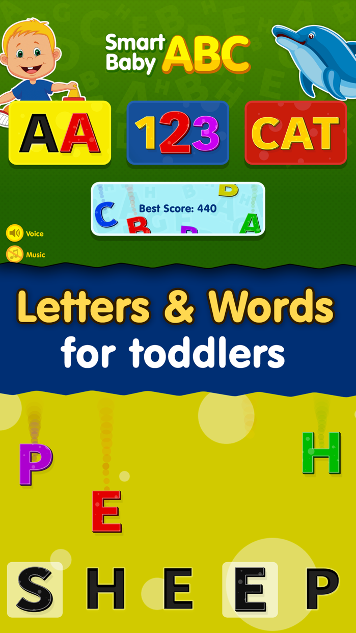 Kids ABC Games: Toddler Boys & Girls Learning Free Screenshot