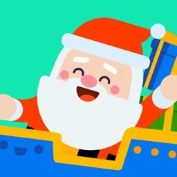 Bum Santa Christmas Stickers