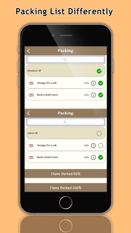 Get up & Go Smart Packing List screenshot-3